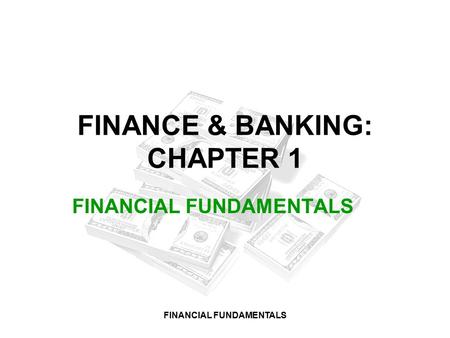 Functions and Forms of Banking Outline