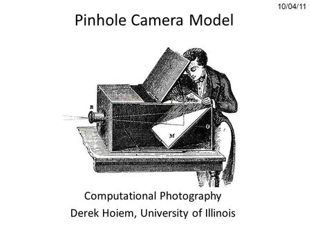 EEM 561 Machine Vision Week 10 :Image Formation and