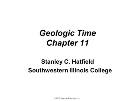 Geologic Time ppt download