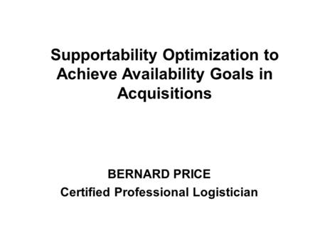RELATIONSHIPS OF RELIABILITY, AVAILABILITY