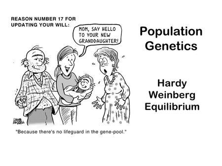 Population Genetics: Populations change in genetic