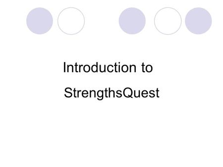 WELCOME Strengths-Based Leadership. STRENGTHS REFLECTION