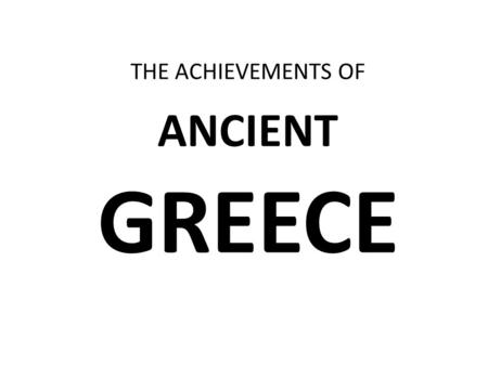 Chapter 9 Lesson 2. Describe how Greek mythology affected
