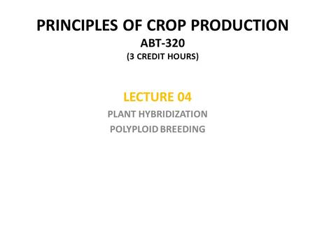 PLANT SCIENCES II BSC ppt download
