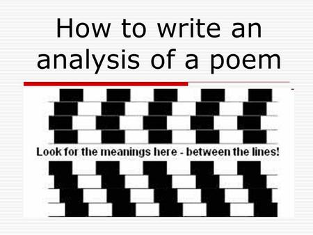 Poetic Analysis An introduction Warm up: Prepare to take