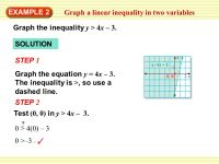Graphing Inequalities In Two Variables Worksheet ...