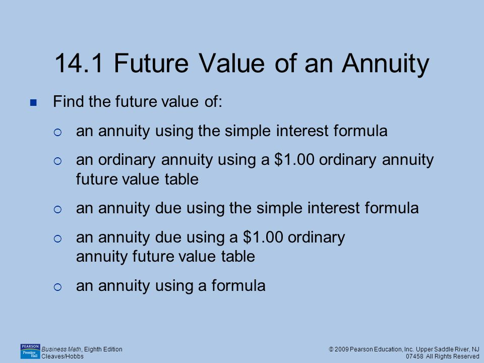 annuities calculation