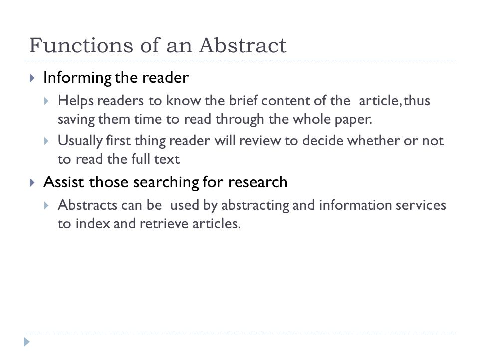Academic Writing Writing An Abstract Ppt Video Online