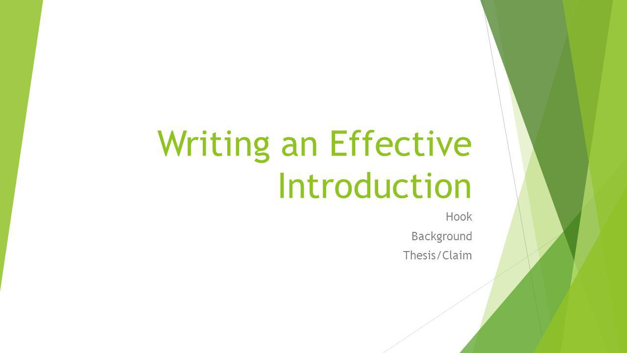 Writing an Effective Introduction  ppt download