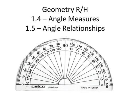Geometry/Trig 2 – Unit 1 Review
