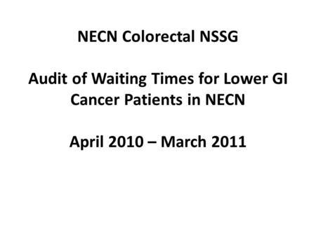Out of hours audit Jane Arthur Cancer Nursing