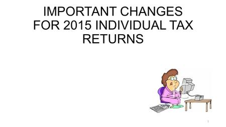TAX-AIDE Federal Tax Law Changes TAX-AIDE Federal Tax Law