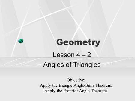 3.4 parallel Lines and the Triangle Angle-Sum Theorem