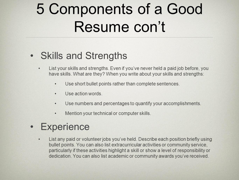 resume skill words list