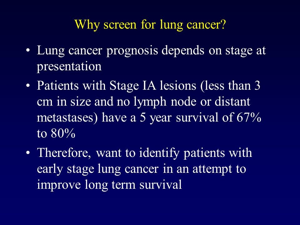 Helical Ct Screening For Lung Cancer At Advanced Radiology