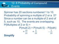 Printable Worksheets  Compound Probability Worksheets ...