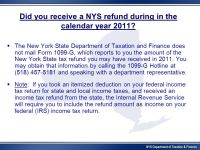 New York State Department of Taxation and Finance - ppt ...