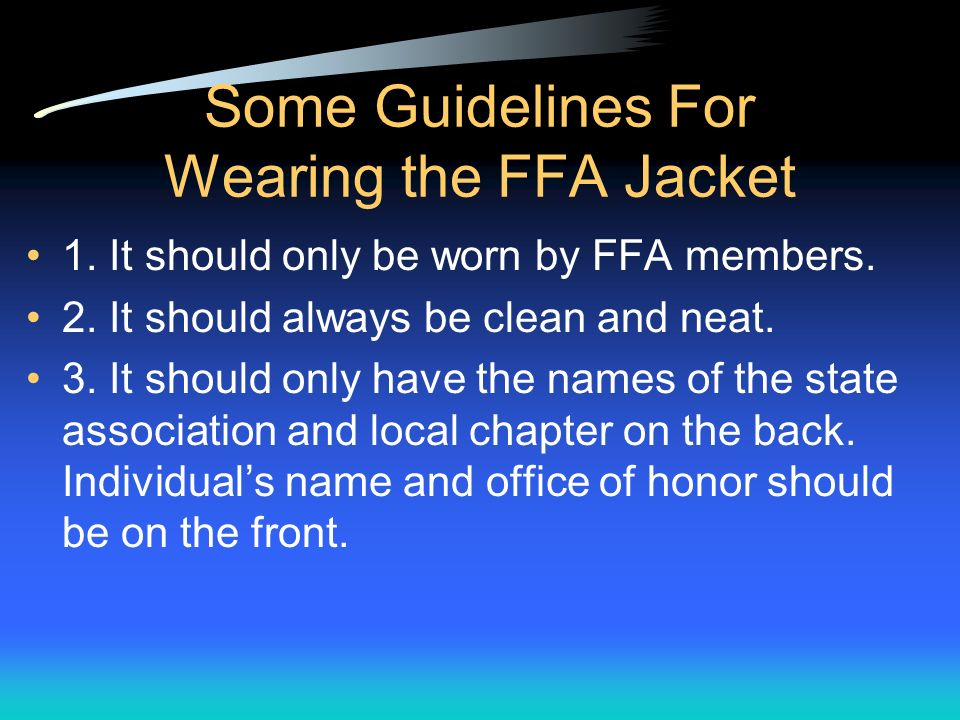 Ffa Official Dress Guidelines