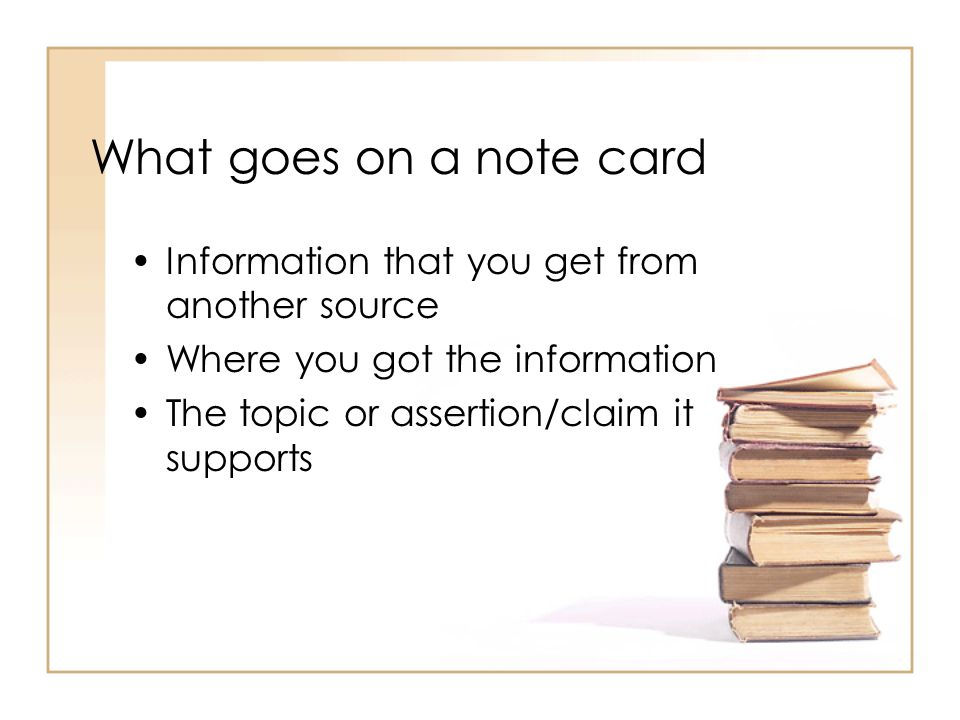 Research Paper Note Cards Ppt Download