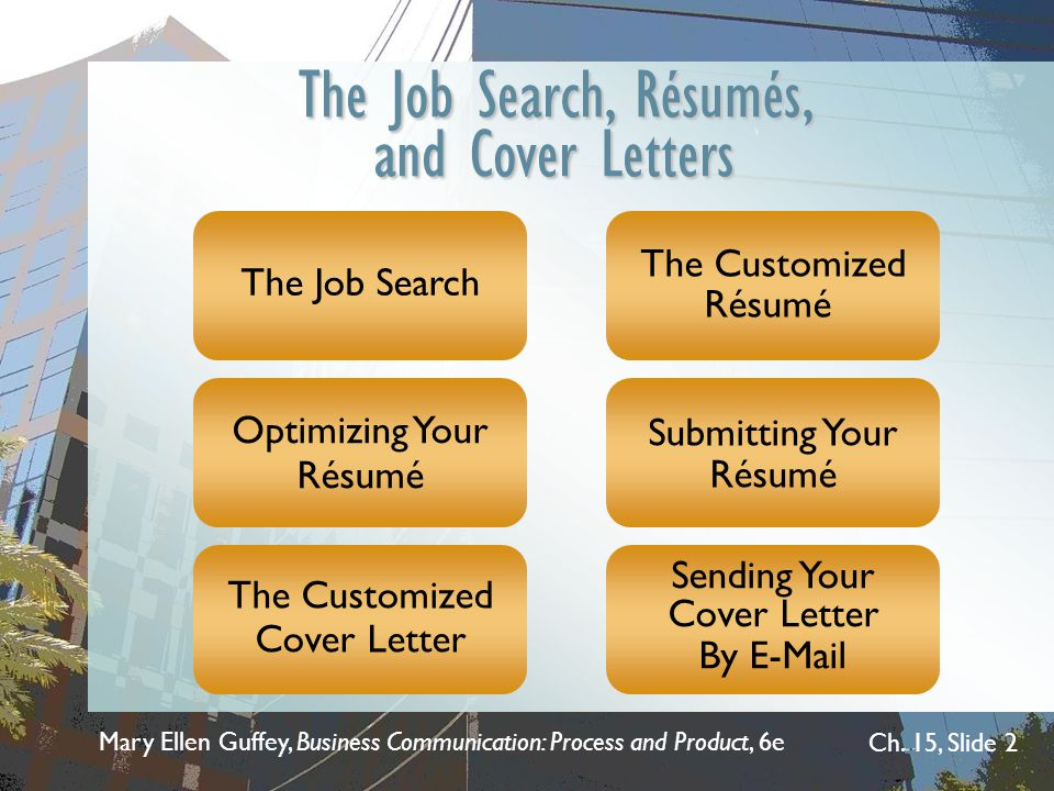 Chapter 15 The Job Search Rsums and Cover Letters  ppt video online download