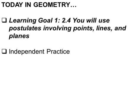 Geometry Lesson 2