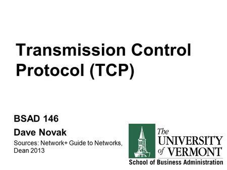 Transportation Protocols: UDP, TCP & RTP Transportation