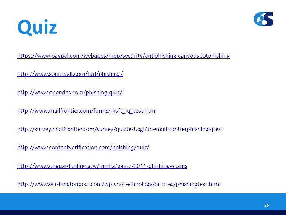Information Technology Security Quiz