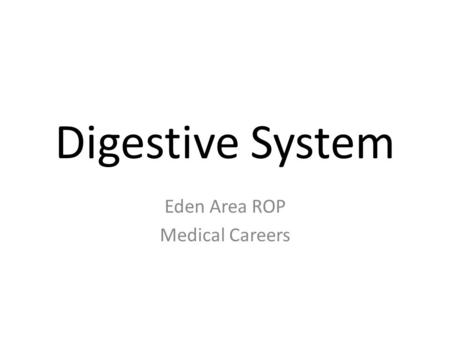 Digestive System Chapter 11 Unit ppt download