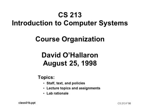Assembly Language and Computer Organization Topics: Theme