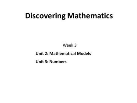 Targeting Grade C Number Unit 5 Prime Factors, HCF and LCM