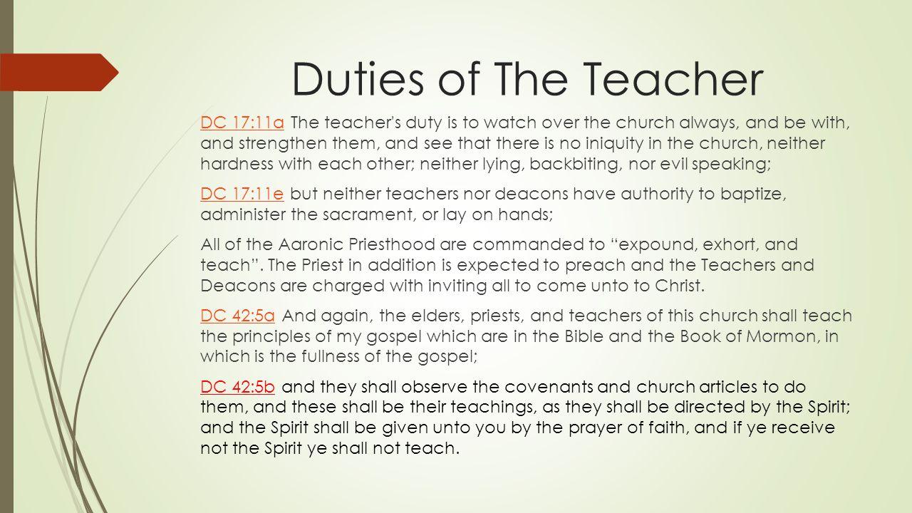 Responsibilities of The Teacher  ppt video online download