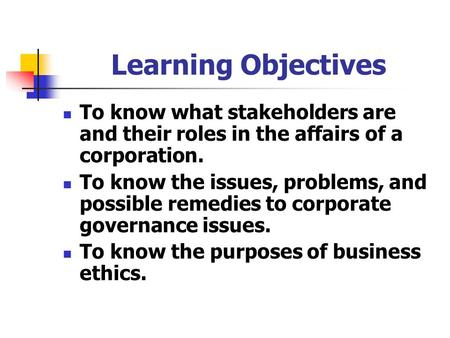 11 Chapter 11: Corporate Performance, Governance, and