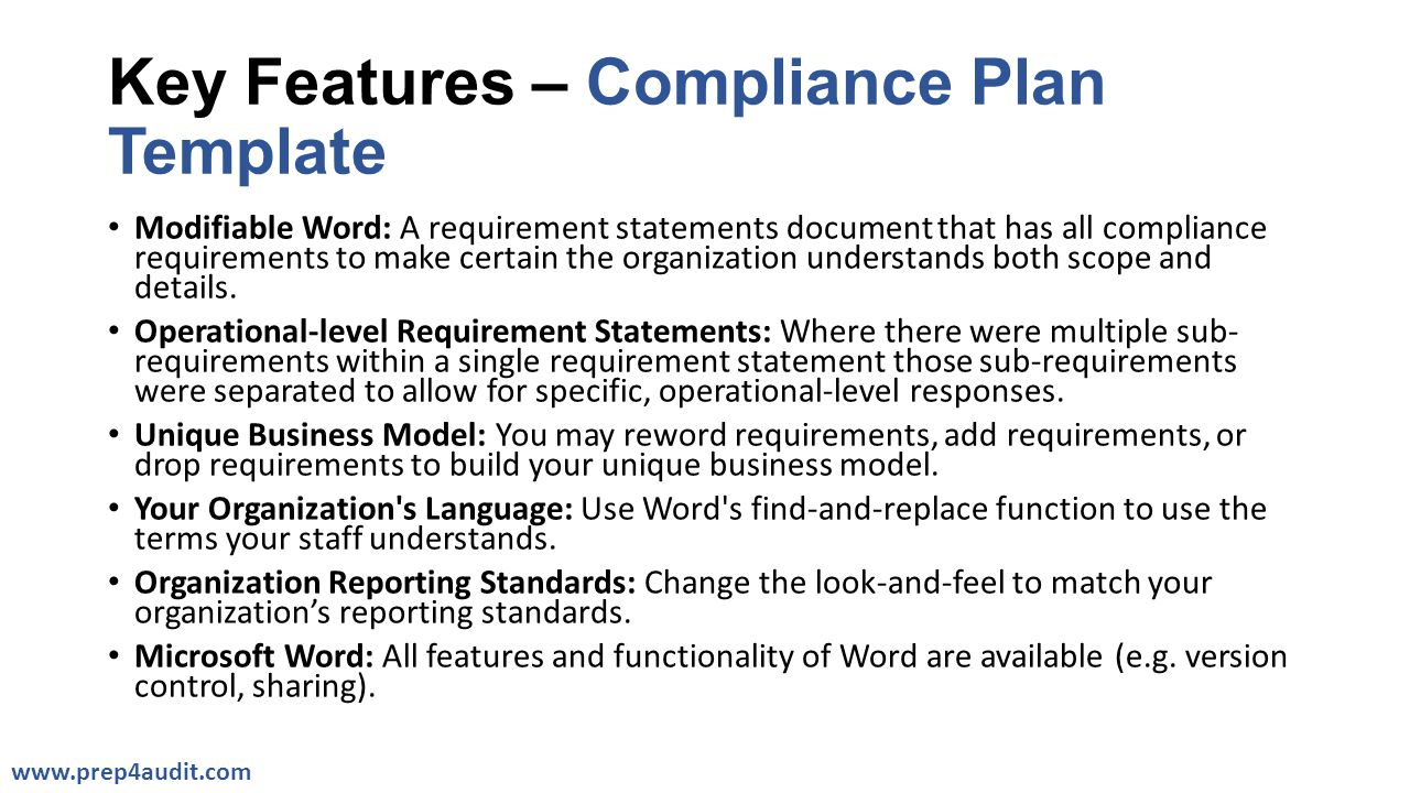 Compliance Plan Templates Ppt Video Online Download