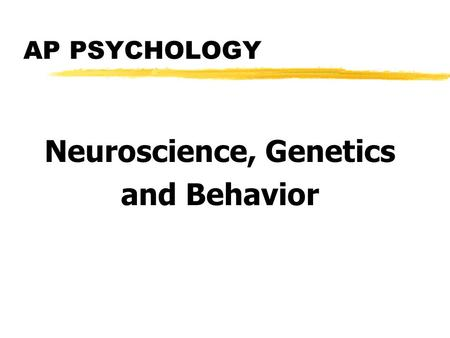 Myers EXPLORING PSYCHOLOGY (6th Ed) Chapter 2 Neuroscience