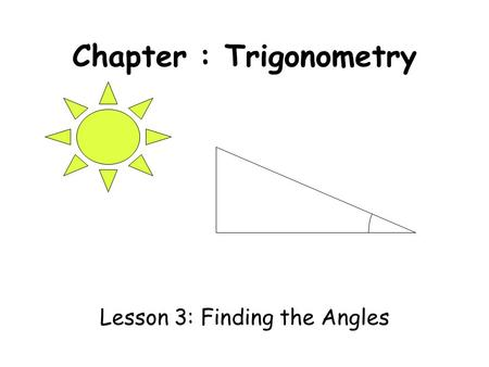 GCSE: Non-right angled triangles Dr J Frost Last modified