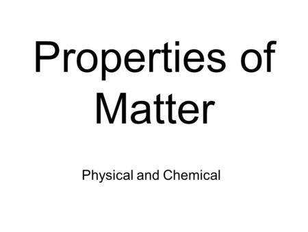 PHYSICO-CHEMICAL PROPERTIES OF MILK. Physical state