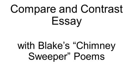 COMPARISON/CONTRAST. THREE PARTS OF ESSAY INTRODUCTION