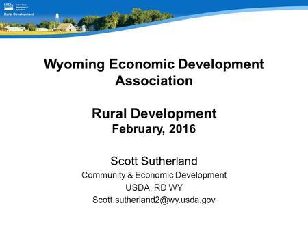 USDA Rural Development Program Overview Brian Queen