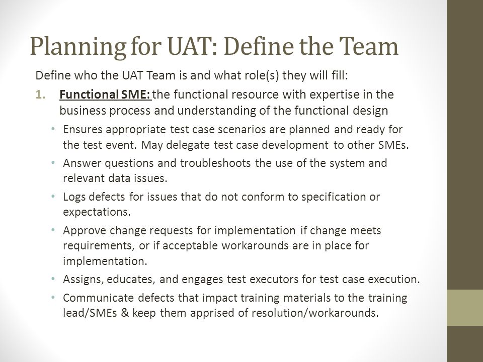 QA Engagement during User Acceptance Testing  ppt video online download