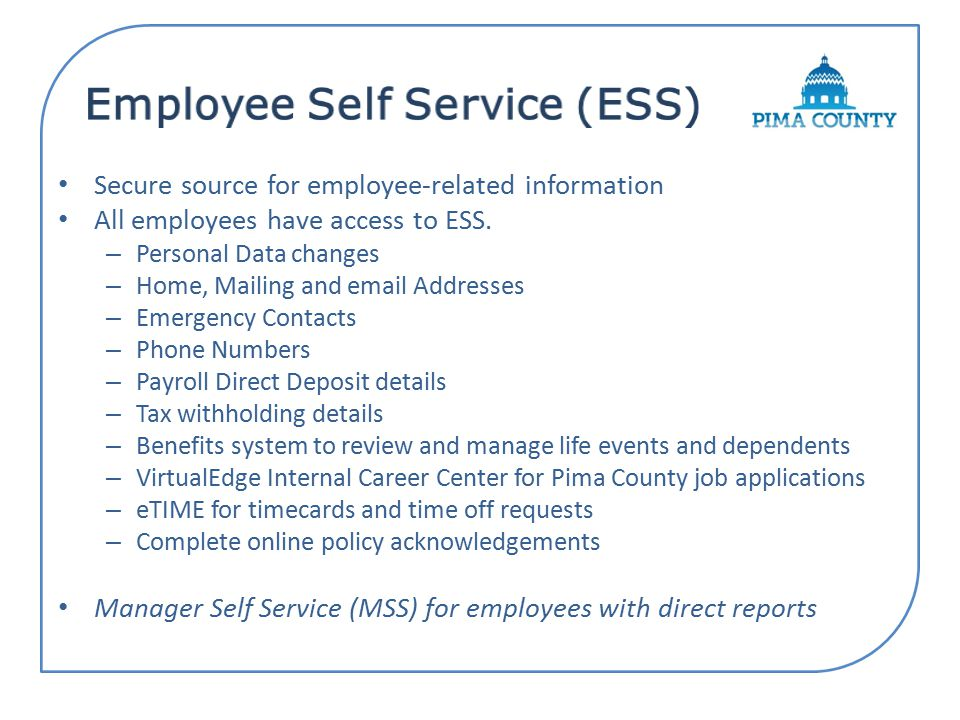 Employee Self Service ESS Registration  ppt download