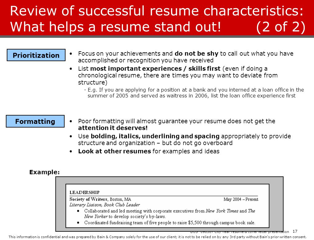 City Year Resume Workshop  ppt download
