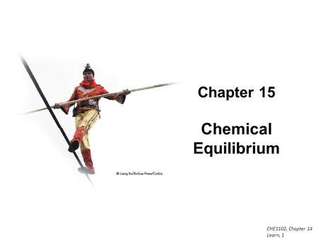 EQUILIBRIUM SCH4U. Learning Goals: Explain the concept of