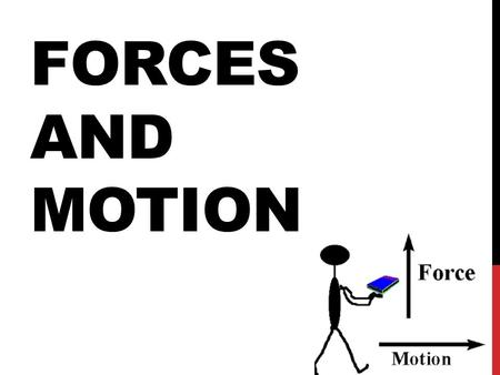 Motion and Force are governed by three laws Called Newton