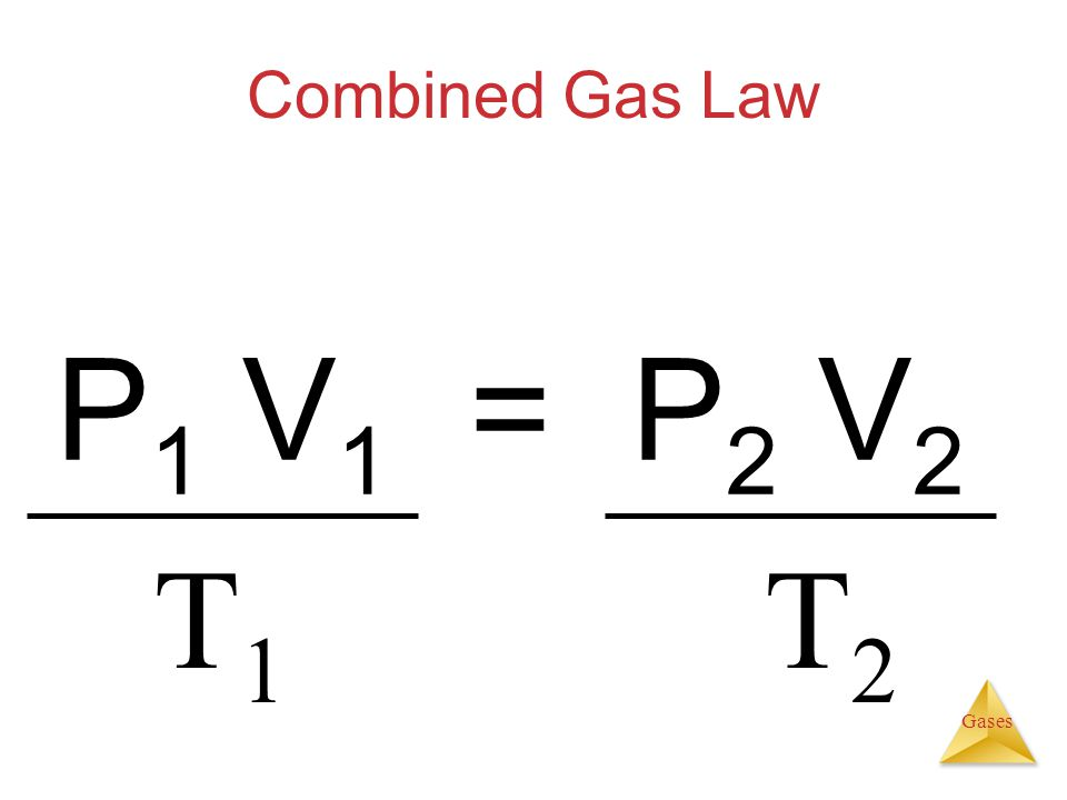 How To Solve For P2 In Combined Gas Law