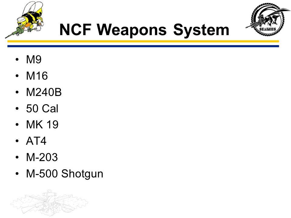 SEABEE COMBAT WARFARE COMMON CORE Unit 108 Weapons
