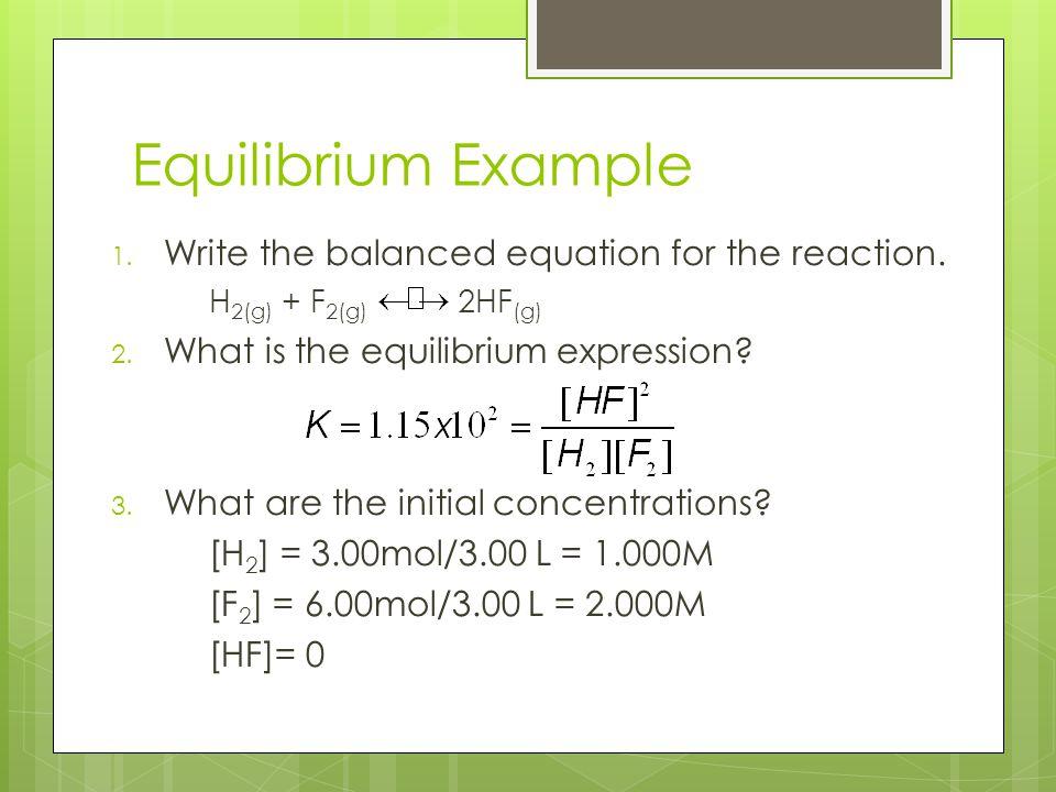 Chemical Equilibrium AP Chem Unit Ppt Download