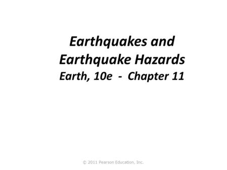 What Is an Earthquake? An earthquake is the vibration of