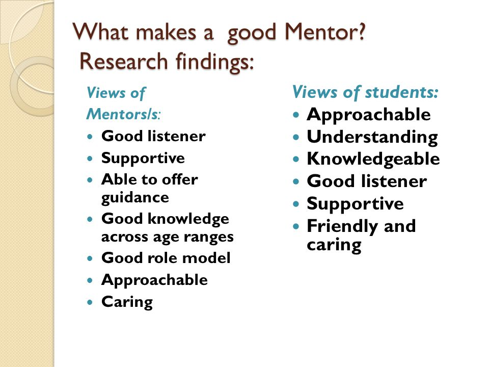 Session Objectives For Mentors to know  ppt download