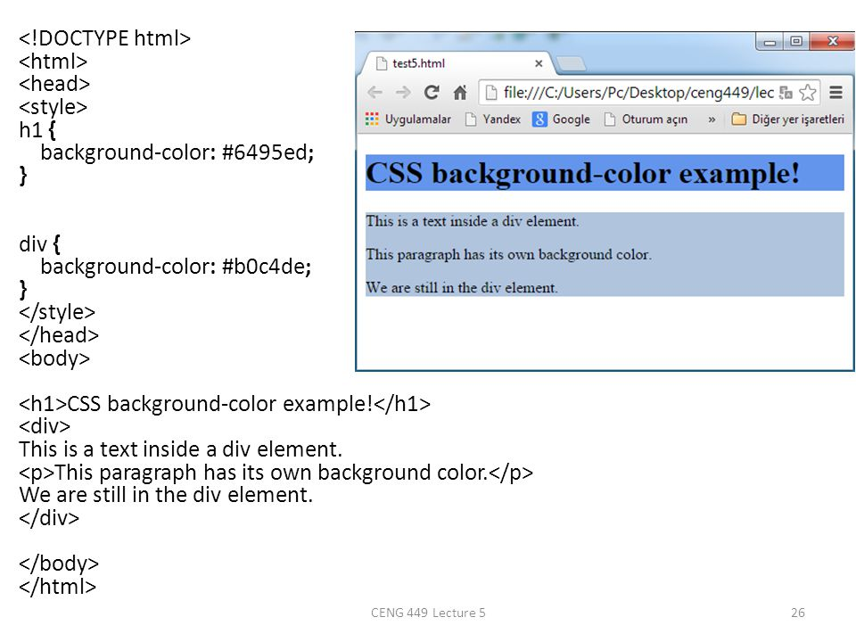 Css Print Div Background Color