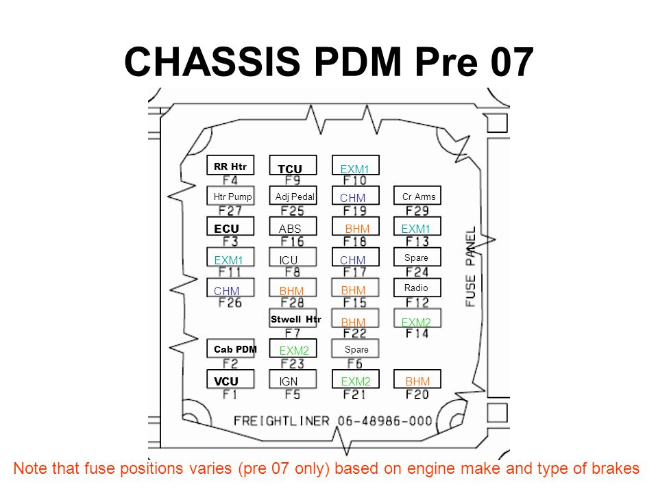 Brake light wiring diagram freightliner m2112